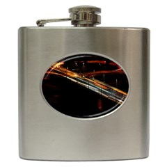 Highway Night Lighthouse Car Fast Hip Flask (6 Oz)
