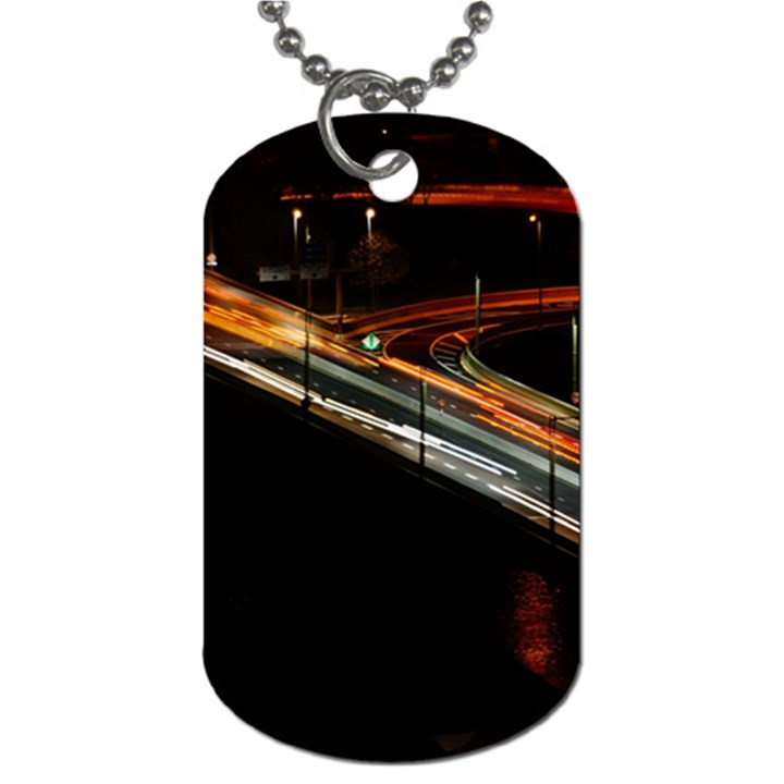Highway Night Lighthouse Car Fast Dog Tag (Two Sides)