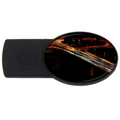 Highway Night Lighthouse Car Fast Usb Flash Drive Oval (2 Gb)