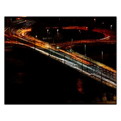 Highway Night Lighthouse Car Fast Rectangular Jigsaw Puzzl