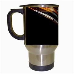 Highway Night Lighthouse Car Fast Travel Mugs (White)