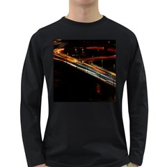 Highway Night Lighthouse Car Fast Long Sleeve Dark T Shirts