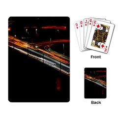 Highway Night Lighthouse Car Fast Playing Card