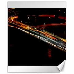 Highway Night Lighthouse Car Fast Canvas 16  X 20
