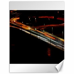 Highway Night Lighthouse Car Fast Canvas 18  X 24