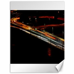 Highway Night Lighthouse Car Fast Canvas 36  X 48