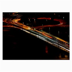 Highway Night Lighthouse Car Fast Large Glasses Cloth