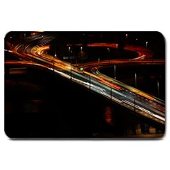 Highway Night Lighthouse Car Fast Large Doormat