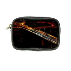 Highway Night Lighthouse Car Fast Coin Purse