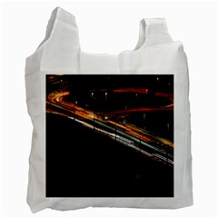 Highway Night Lighthouse Car Fast Recycle Bag (two Side)