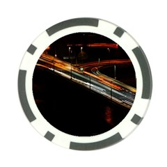 Highway Night Lighthouse Car Fast Poker Chip Card Guard (10 Pack)