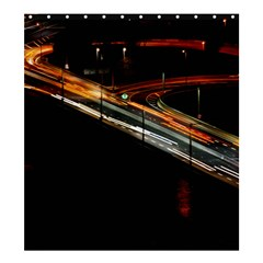 Highway Night Lighthouse Car Fast Shower Curtain 66  X 72  (large)