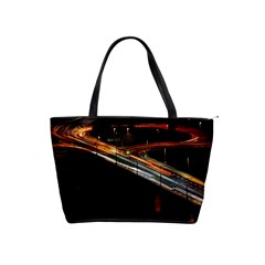 Highway Night Lighthouse Car Fast Shoulder Handbags