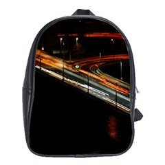 Highway Night Lighthouse Car Fast School Bags(large)
