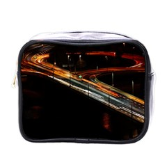 Highway Night Lighthouse Car Fast Mini Toiletries Bags