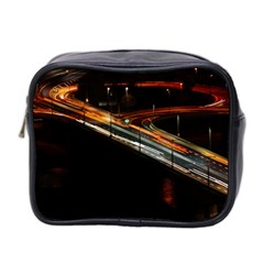 Highway Night Lighthouse Car Fast Mini Toiletries Bag 2-Side