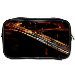 Highway Night Lighthouse Car Fast Toiletries Bags