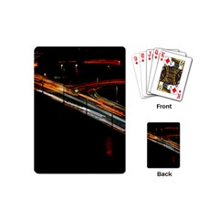 Highway Night Lighthouse Car Fast Playing Cards (mini)