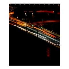 Highway Night Lighthouse Car Fast Shower Curtain 60  X 72  (medium)