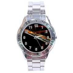 Highway Night Lighthouse Car Fast Stainless Steel Analogue Watch