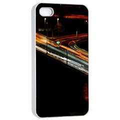 Highway Night Lighthouse Car Fast Apple Iphone 4/4s Seamless Case (white)