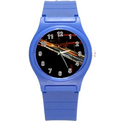 Highway Night Lighthouse Car Fast Round Plastic Sport Watch (s)