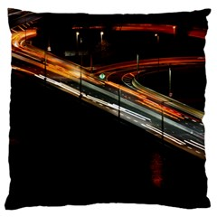 Highway Night Lighthouse Car Fast Large Cushion Case (two Sides)