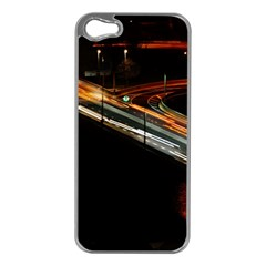 Highway Night Lighthouse Car Fast Apple Iphone 5 Case (silver)