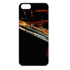 Highway Night Lighthouse Car Fast Apple Iphone 5 Seamless Case (white)