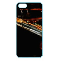 Highway Night Lighthouse Car Fast Apple Seamless Iphone 5 Case (color)