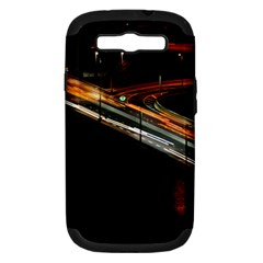 Highway Night Lighthouse Car Fast Samsung Galaxy S Iii Hardshell Case (pc+silicone)