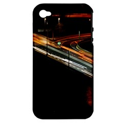 Highway Night Lighthouse Car Fast Apple Iphone 4/4s Hardshell Case (pc+silicone)