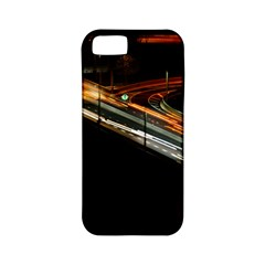 Highway Night Lighthouse Car Fast Apple iPhone 5 Classic Hardshell Case (PC+Silicone)
