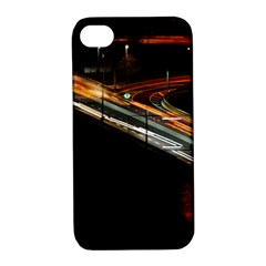 Highway Night Lighthouse Car Fast Apple Iphone 4/4s Hardshell Case With Stand