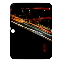 Highway Night Lighthouse Car Fast Samsung Galaxy Tab 3 (10.1 ) P5200 Hardshell Case