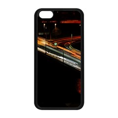 Highway Night Lighthouse Car Fast Apple Iphone 5c Seamless Case (black)