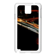 Highway Night Lighthouse Car Fast Samsung Galaxy Note 3 N9005 Case (white)