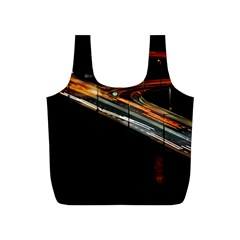 Highway Night Lighthouse Car Fast Full Print Recycle Bags (s)