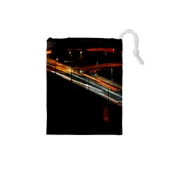 Highway Night Lighthouse Car Fast Drawstring Pouches (small)