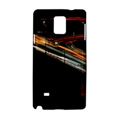 Highway Night Lighthouse Car Fast Samsung Galaxy Note 4 Hardshell Case