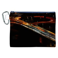 Highway Night Lighthouse Car Fast Canvas Cosmetic Bag (xxl)