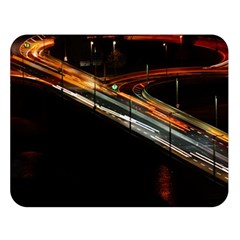 Highway Night Lighthouse Car Fast Double Sided Flano Blanket (large)