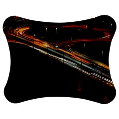 Highway Night Lighthouse Car Fast Jigsaw Puzzle Photo Stand (Bow)