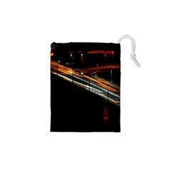 Highway Night Lighthouse Car Fast Drawstring Pouches (xs)