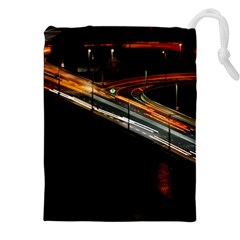 Highway Night Lighthouse Car Fast Drawstring Pouches (xxl)