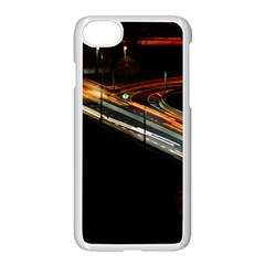 Highway Night Lighthouse Car Fast Apple Iphone 7 Seamless Case (white)