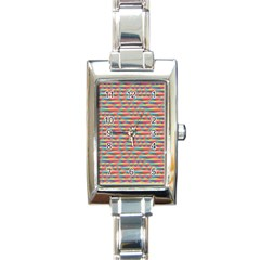 Background Abstract Colorful Rectangle Italian Charm Watch