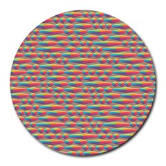 Background Abstract Colorful Round Mousepads