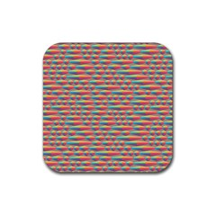 Background Abstract Colorful Rubber Coaster (square)