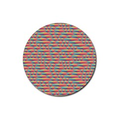 Background Abstract Colorful Rubber Round Coaster (4 Pack)